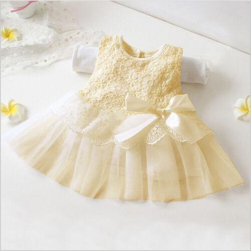 Baby Flower Girls Birthday Dress Party Lace Tulle Tutu Wedding Bridesmaid Dress