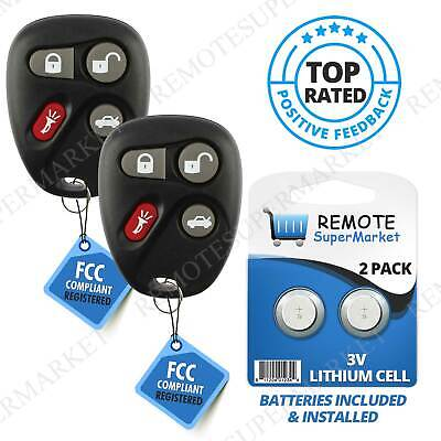 2 Replacement For 2000 2001 2002 2003 2004 2005 Buick LeSabre Remote Fob Key