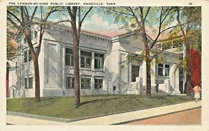 KNOXVILLE TENNESSEE~THE LAWSON McGHEE PUBLIC LIBRARY~1920-30s POSTCARD