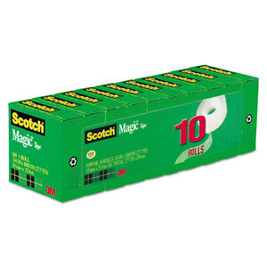 """12//PK Lot Of 2 Magic Tape Total Of 24 Clear 3//4/""""x1000/"""" Refill Value Pk"""