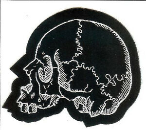 Skull-Left-Patch-Death-Metal-Occult-Halloween-Reaper-Zombie-Day-Of-The-Dead-666