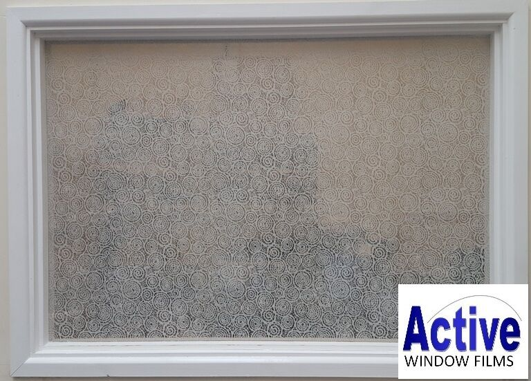 Patterned Decorative Swirls /Circles Frosted Window Film - Privacy Glass Film RC