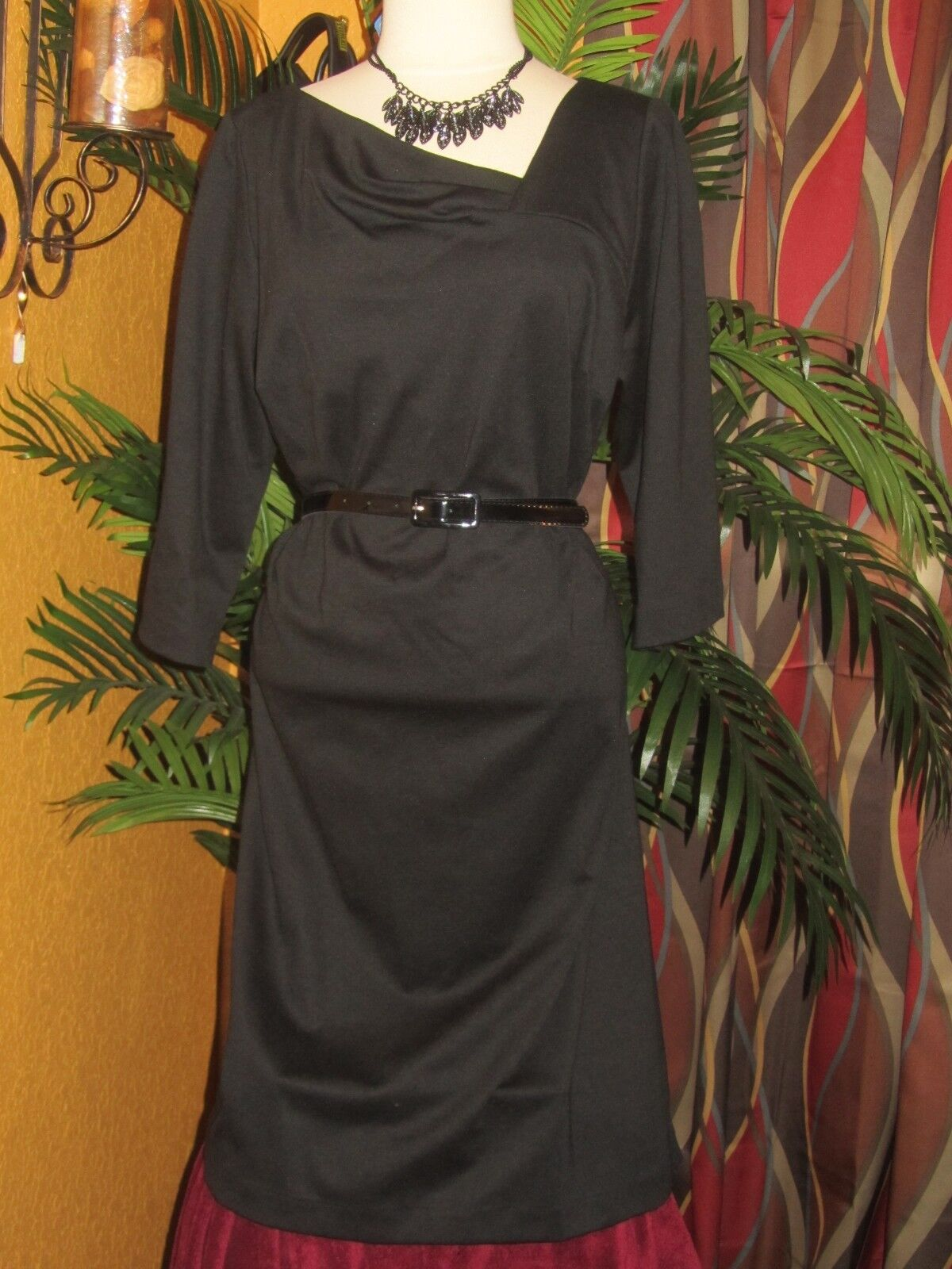 LANE BRYANT NWT  14 16 damen dress party slimming schwarz fitting slender
