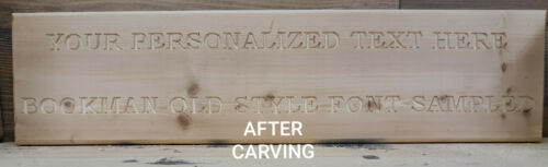 "Personalized FREE HAND Routed Wood Sign *NOT DONE BY CNC!* 5.5/""x22/"""
