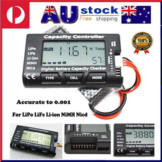 RC CellMeter 7 Digital Battery Capacity Checker For NiMH Nicd LiFe LiPo Li-ion