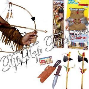 CréAtif Indian Arme Jouet Dague Hache Bow Tomahawk Amérindien Accessoire Robe Fantaisie-afficher Le Titre D'origine Riche Et Magnifique