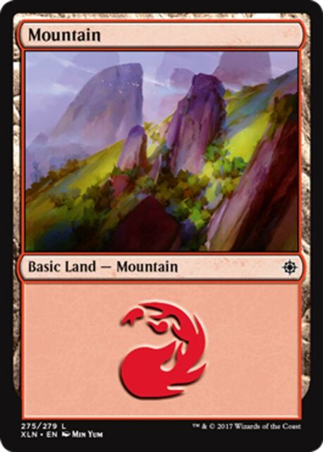 Magic the Gathering FOIL MOUNTAIN x10 card mtg NM basic land cards mana