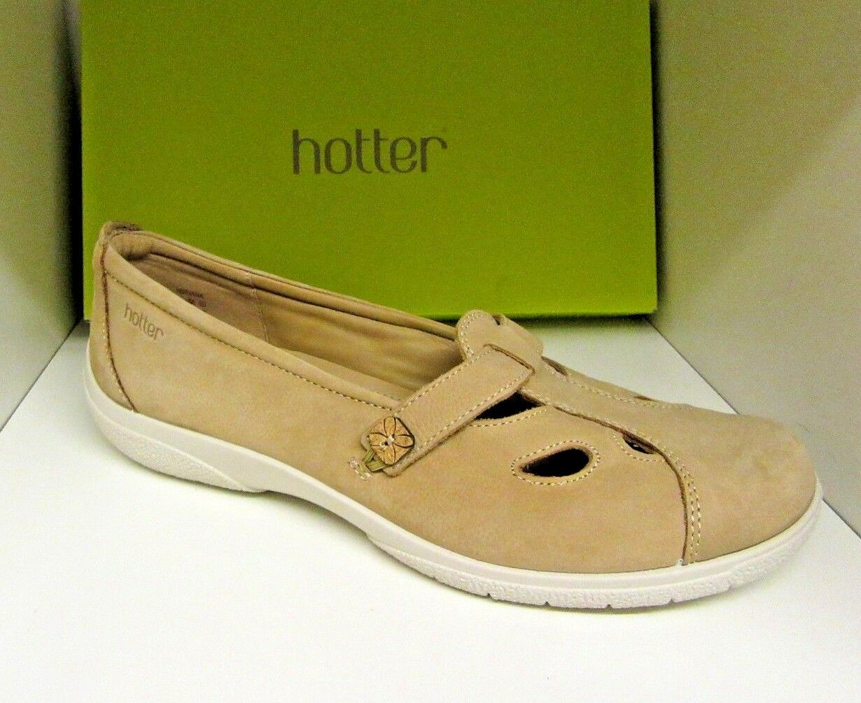 HOTTER NIRVANA BEIGE NUBUCK LEATHER SIZE 8 STANDARD BRAND NEW IN BOX