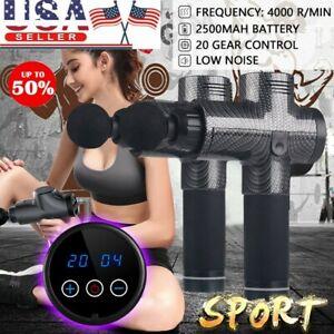 LCD-Massage-Gun-Percussion-Massager-Muscle-Vibrating-Relaxing-Like-Hypervolt-USA