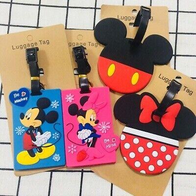 Disney pink minnie PVC anime luggage tag Baggage Tags  handbag tag brand