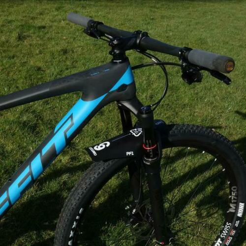 Front MTB Mudguard RideGuard PF1 Enduro Guard Mountain Bike Fender UK Made Black
