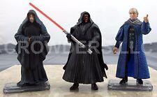 "Star Wars Episode 1 Darth Sidious Senator Palpatine & Darth Maul Tatooine 3.75"""
