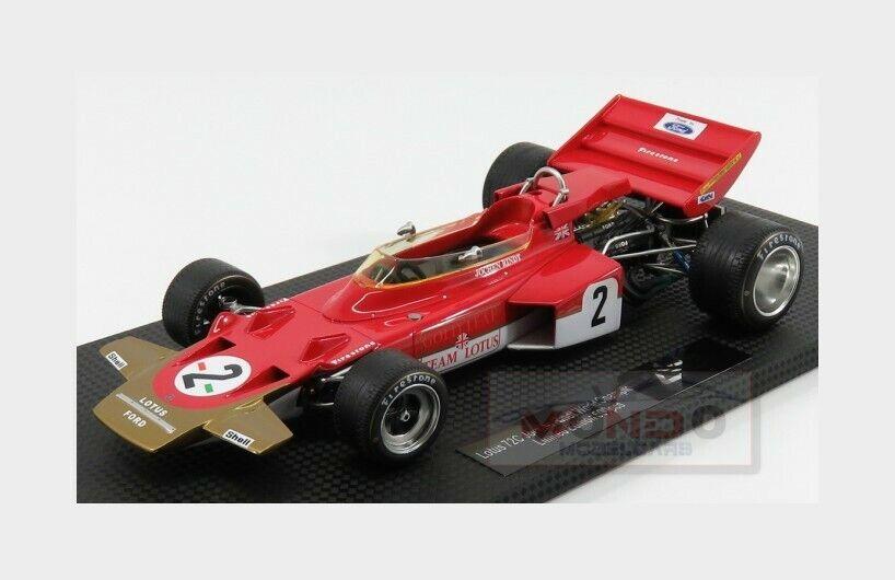 Lotus F1 72C  2 World Champion 1970 J.Rindt rosso oro GP REPLICAS 1 18 GP013A
