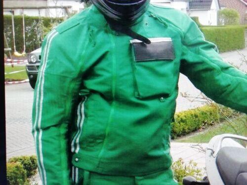Art zweiteilig grün Goretex Kradanzüge // Motorradkombi Polizei