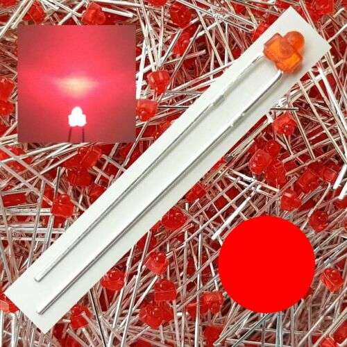 LED 1,8mm Red diffuses quantity selectable 1//10//25//50 Piece C5009