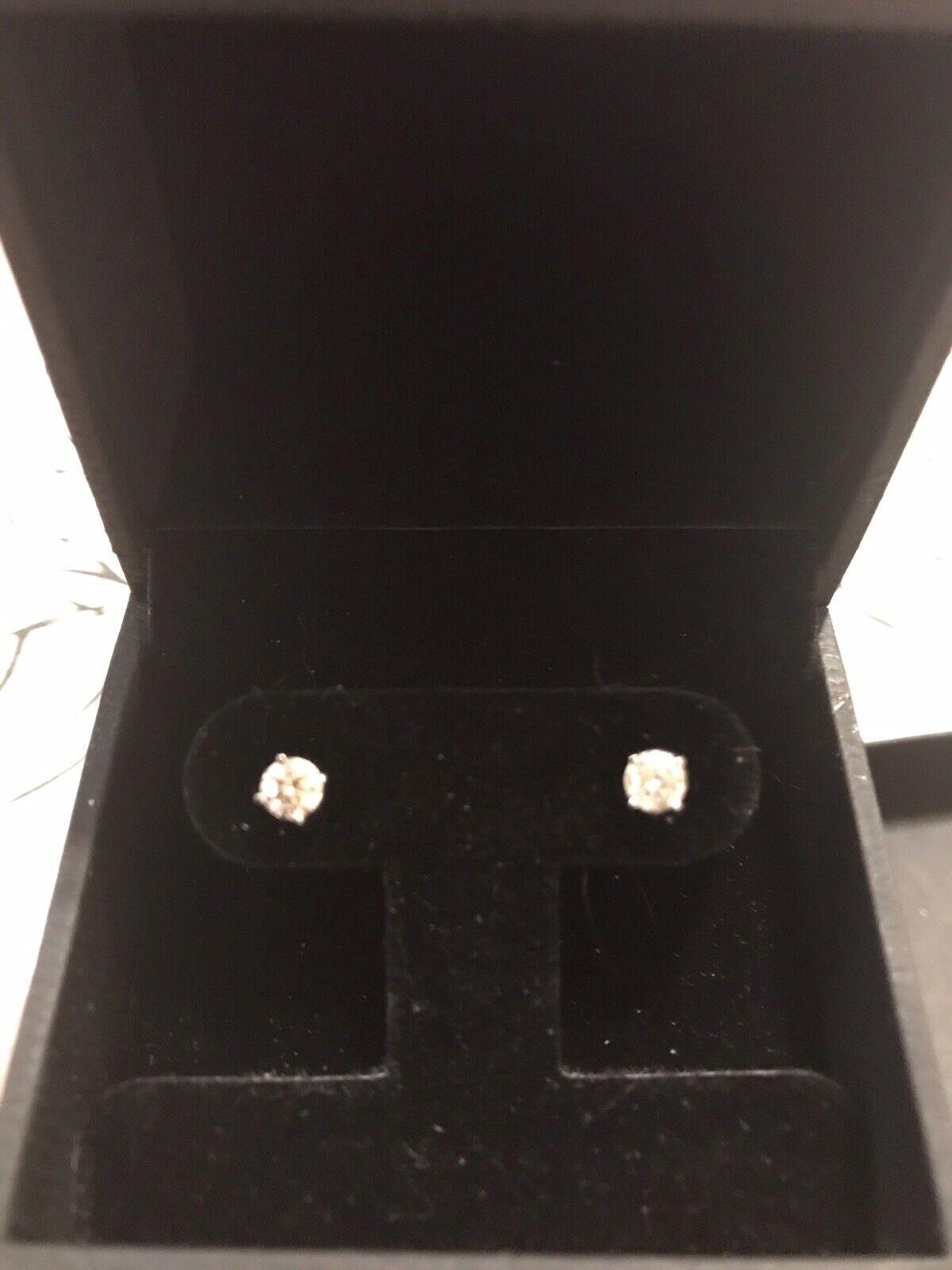 Diana M Diamond Stud Earrings.50 - image 4