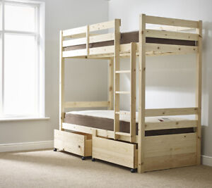 Strictly Beds and Bunks Everest 3ft Single Storage Under Drawer Bunk Bed (EB90)