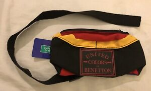 United-Colors-of-Benetton-Waist-Belt-Bag-Colorful-Vintage-Fanny-Pack-NWT