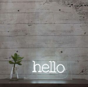 New Hello Neon Art Sign Handmade Visual Artwork Wall Decor Light eBay