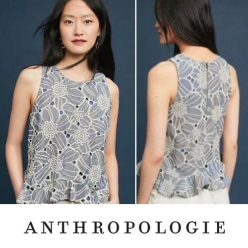 Anthropologie Sunday In Brooklyn Chambray Eyelet S