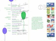 USPS CEREMONY PROGRAM 1987 SIGNED sc2267/74 C1 SPECIAL OCCASIONS