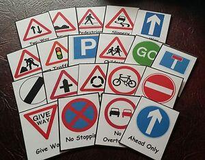 Signalisation routière-Flash Cards-Gardienne/besoins spéciaux/Communication & comprendre  </span>