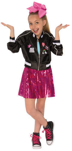 Jojo Siwa Bomber Jacket Girls Fancy Dress Celebrity Music Diva Childs Kid Outfit
