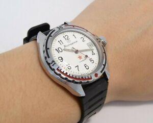 Sowjetische-Armbanduhr-Wostok-Komandirskie-Zakaz-MO-Wostok-Vintage-Armbanduhr-UdSSR-Retro