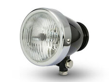 "4.5"" Vintage Style Custom Retro Motorbike Motorcycle Black & Chrome Headlight"