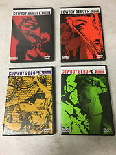 Cowboy Bebop Collection 1st 2nd 3rd 4th Session DVD Lot Vol 1, 2, 3, 4