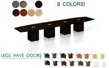 18 Ft Foot Conference Table With Grommets For Power And Legs With Doors 8 Colors