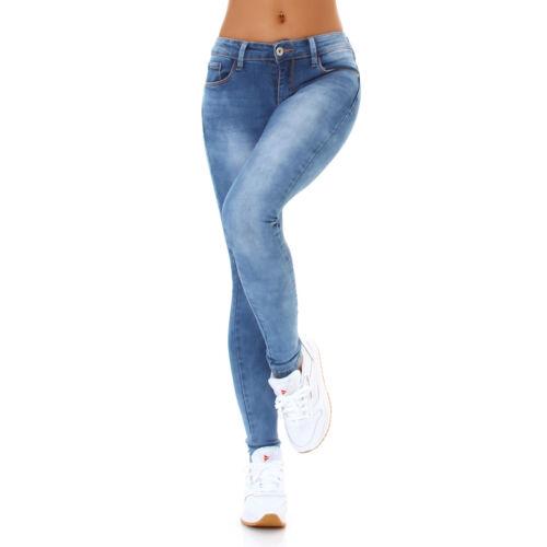 Jeans Damen Skinny Jeans Push Up Jeanshose