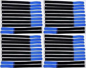 30 x Klett Kabelbinder 300 x 20 mm hellblau Kabelklettband Kabelklett Klettband