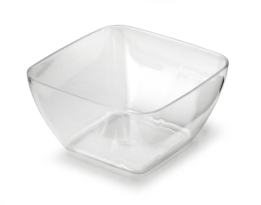 200 x Mozaik Sabert Small Clear Plastic 5.7cm Tasting Appetiser Bowls Disposable