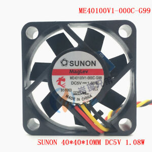 For SUNON ME40101V1-0000-G99 DC12V 1.08W 40mm 4CM 40*40*10mm 3Wire Cooling Fan