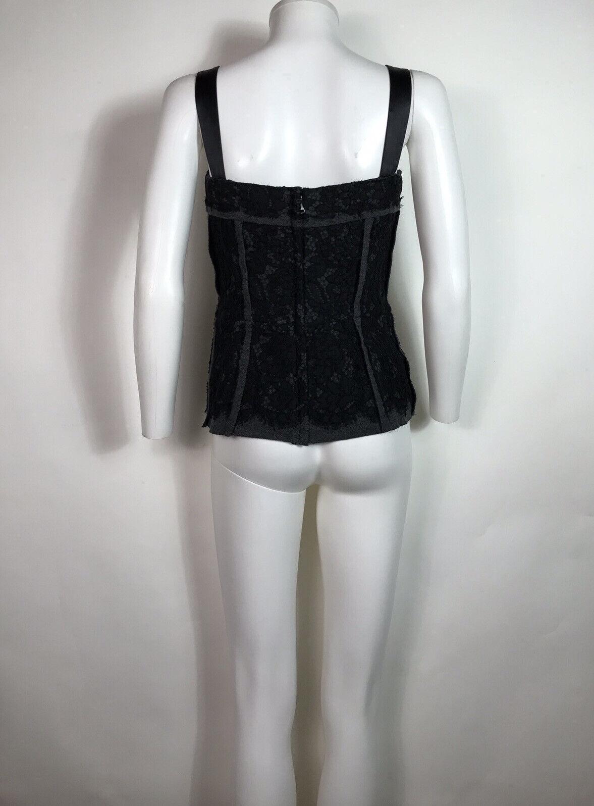 Rare Vtg Dolce & Gabbana Black Lace Corset Top L - image 5