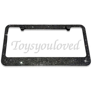Cadillac Bling Stainless license plate frame MadewithSwarovski Crystal Red//Black