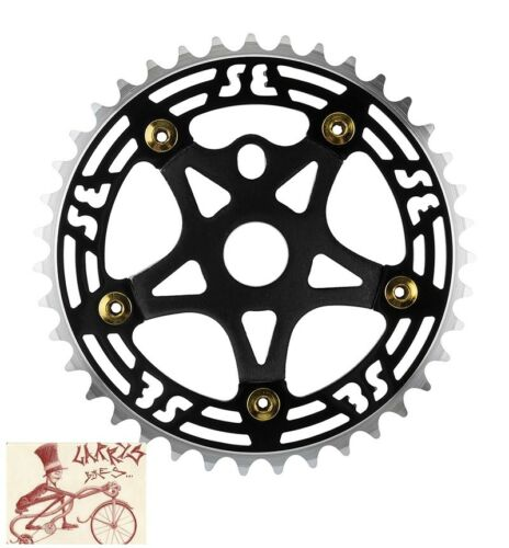 SE RACING BIKES  ALLOY 39T BLACK CHAINRING WITH SPIDER