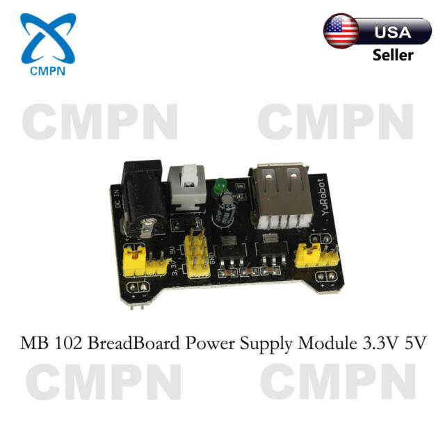MB 102 Breadboard Power Supply Module Protoboard 3.3V 5V For Arduino USA