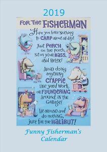 Funny Fisherman Calendar 2019 A4
