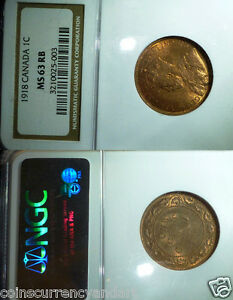Canada 1918 NGC MS63  Large Cent