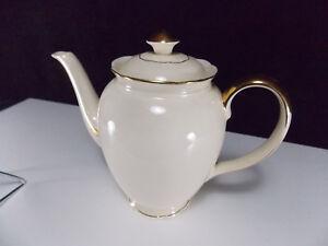 Villeroy & Boch-grande Cafetiere Beige Double Liseret Dore- Lot N°10 0wgw02hb-08002552-612131874