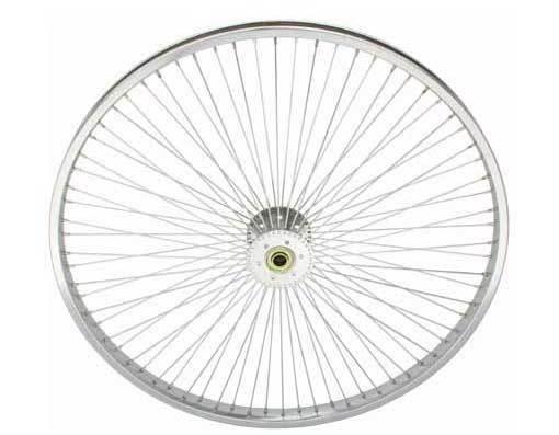 "26/"" 144 Spoke Hollow-Hub Wheel 14G Chrome tricycle wheels bike 294779"
