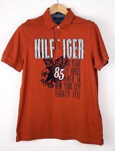 Tommy Hilfiger Hommes Personnalisé Décontracté Col Polo T-Shirt Taille M AMZ1160