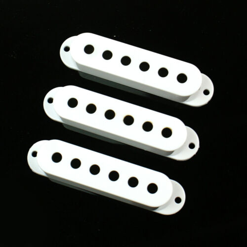 Pre-drilled //White Strat Style Single Coil Guitar Pickup Cover Set