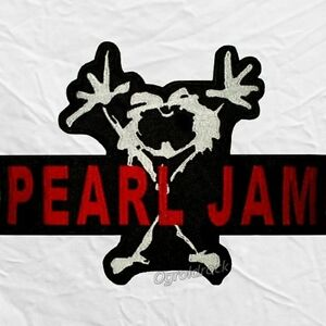Pearl-Jam-Word-amp-Logo-Embroidered-Big-Patch-Rock-Band-Eddie-Vedder-Mike-McCready