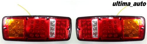 Par 12v Led Trasero Luces Traseras Luz 4 Función Tráiler Caravana Camión 33 Led