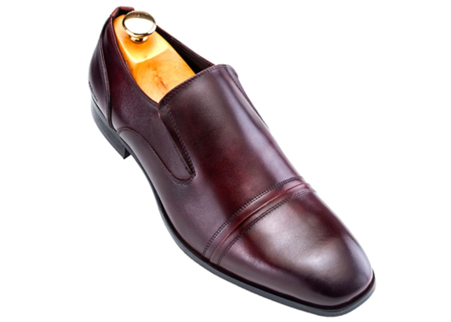 nuovo stile Kenneth Cole Cole Cole Burgundy Leather Shaded Dress Slip-On Cap Toe Trending Loafer Shoe  n ° 1 online