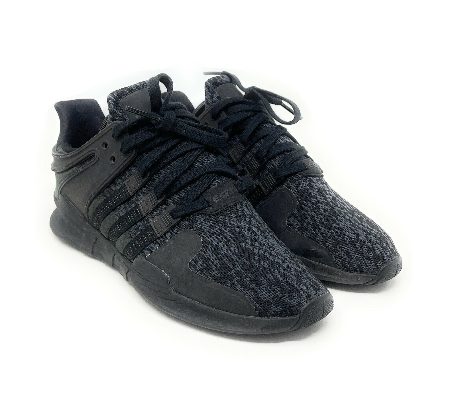 Adidas EQT Support Adv Mens BY9589 Black Pixel Knit Athletic Shoes Size 9