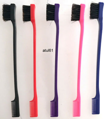 DOUBLE SIDED EDGE CONTROL HAIR BRUSH COMBO HAIR CARE /& STYLING TOOL NEW